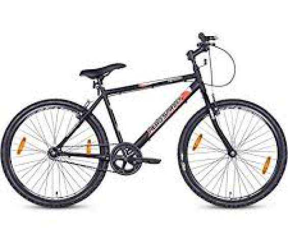 Hero Kyoto 26T Single Speed Mountain Bike (Black, Ideal For : 12+ Years )